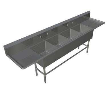 John Boos 4PB1620-2D18 sink, (4) four compartment