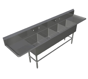 John Boos 4PB16204-2D18 sink, (4) four compartment