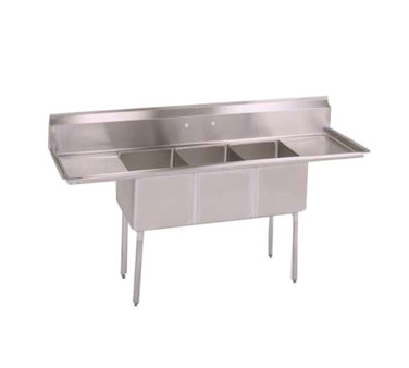 John Boos E3S8-1416-12T12 sink, (3) three compartment