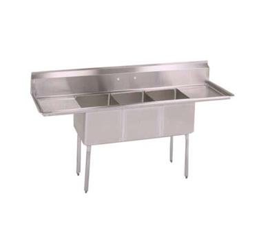 John Boos E3S8-1620-14T18 sink, (3) three compartment