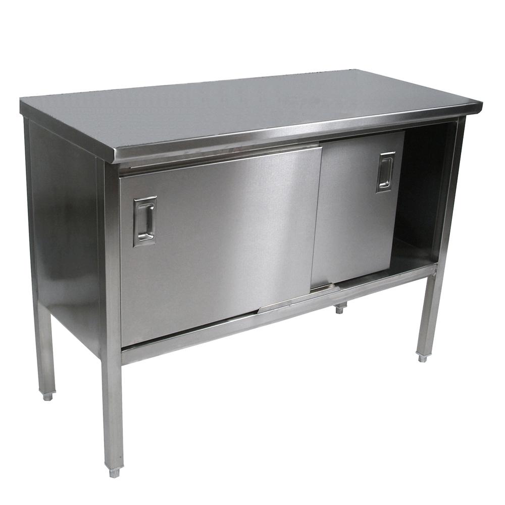 John Boos EBSS4-3084 work table, cabinet base sliding doors
