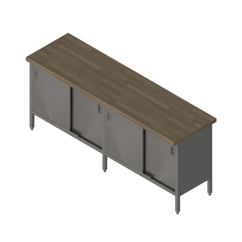 John Boos EBSW7-24120 work table, wood top