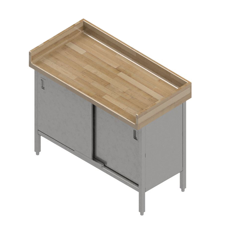 John Boos EBSW7R43-2460 work table, wood top