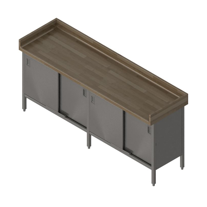 John Boos EBSW7R43-30120 work table, wood top