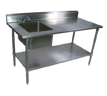 John Boos EPT6R5-3048GSK-L work table, with prep sink(s)