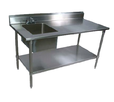 John Boos EPT6R5-3048SSK-L work table, with prep sink(s)