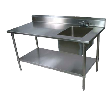 John Boos EPT6R5-3048SSK-R work table, with prep sink(s)