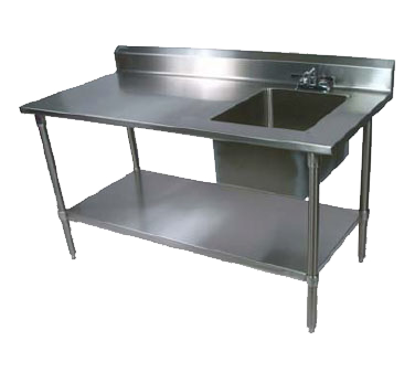 John Boos EPT6R5-3072GSK-R work table, with prep sink(s)