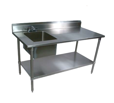 John Boos EPT8R5-3048SSK-L work table, with prep sink(s)