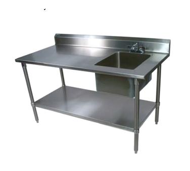 John Boos EPT8R5-3060GSK-R work table, with prep sink(s)