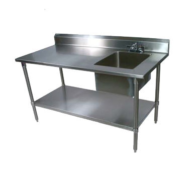 John Boos EPT8R5-3072SSK-R work table, with prep sink(s)