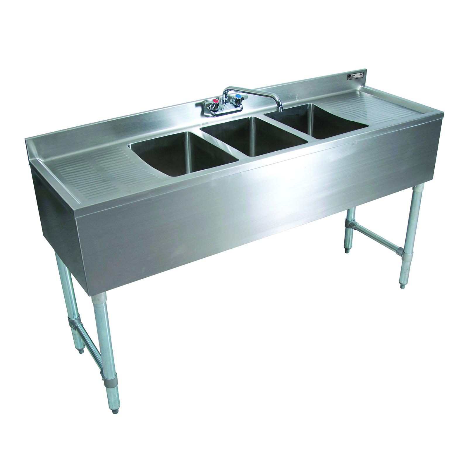 John Boos EUB3S72SL-2D underbar sink units
