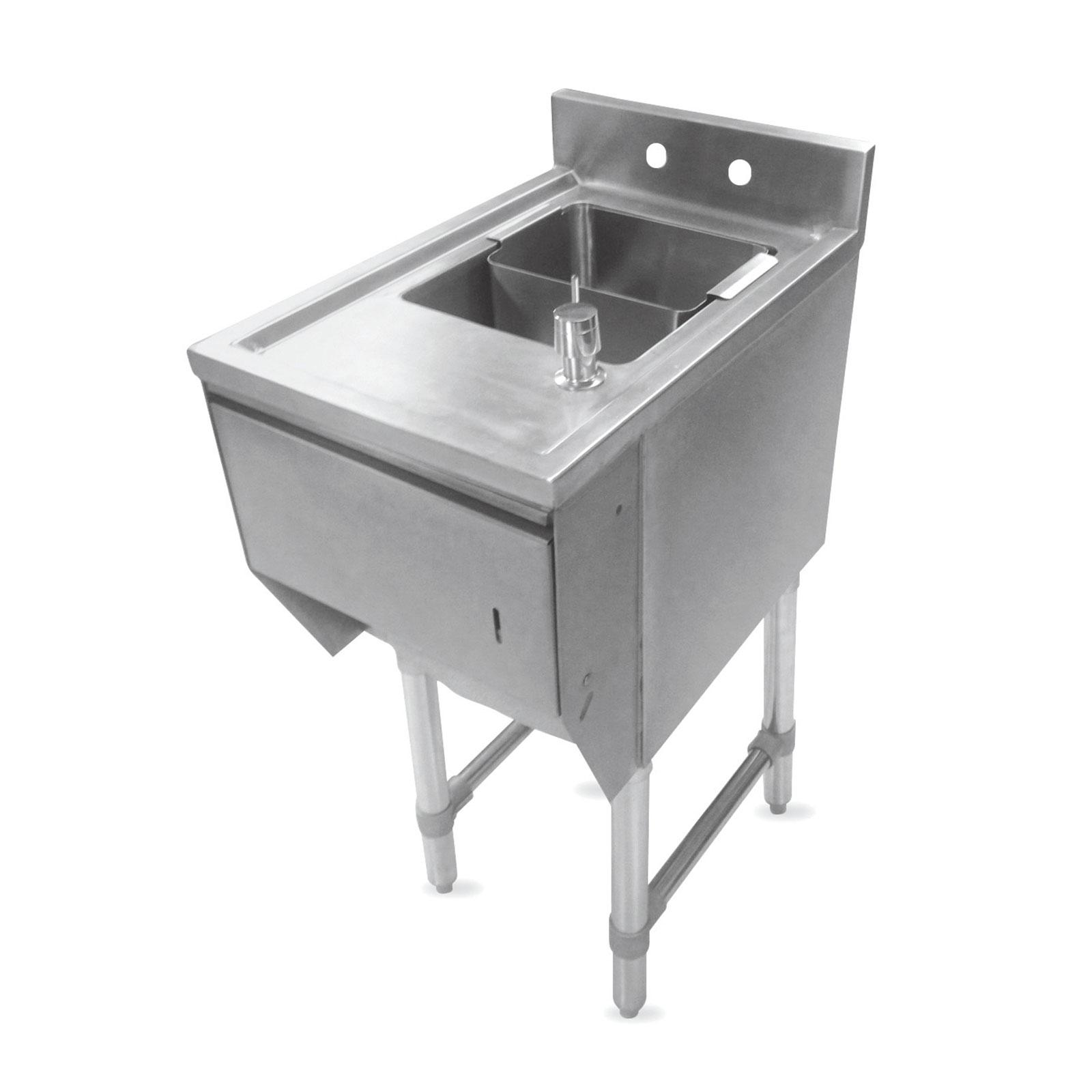 John Boos EUBDS-1218STD underbar sink units