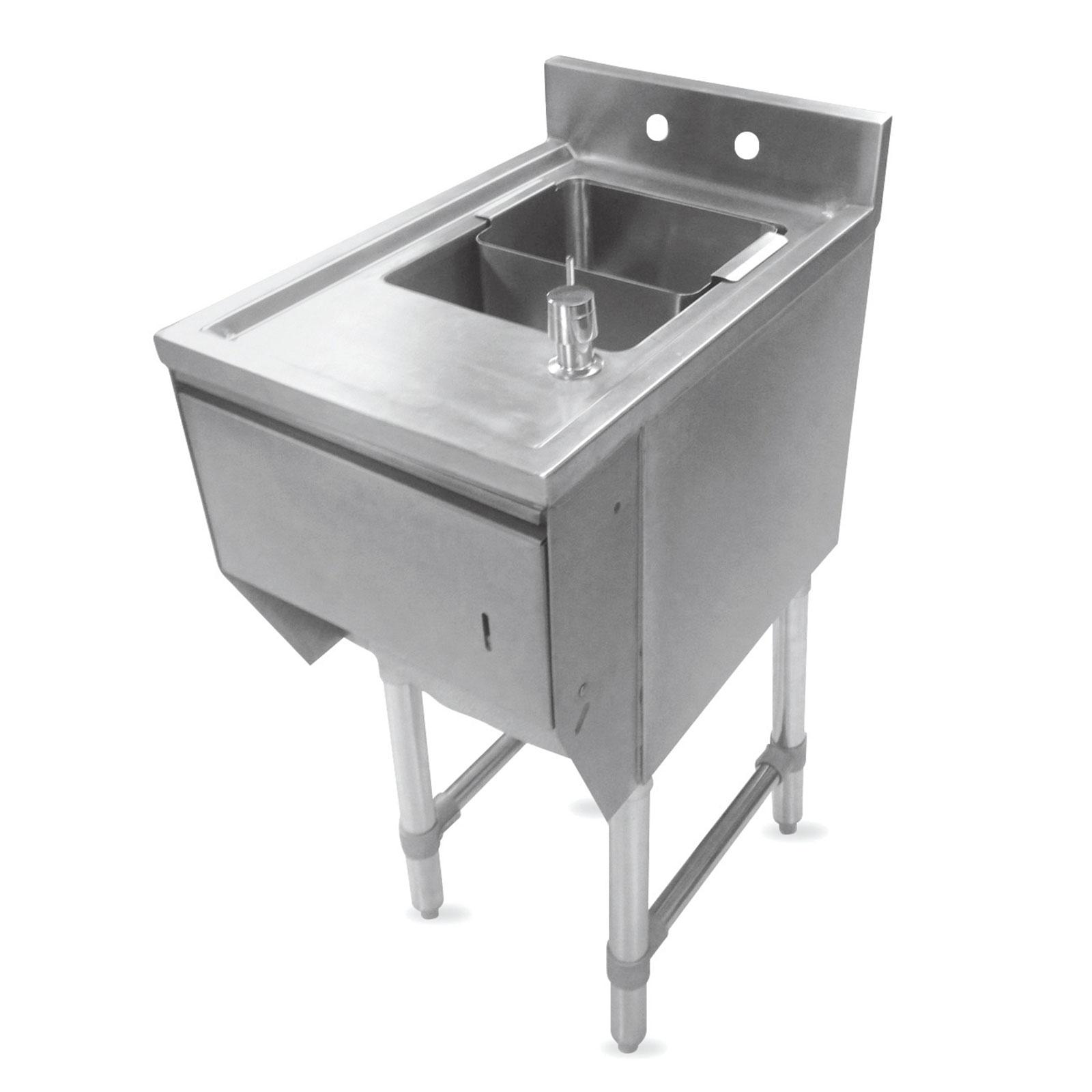 John Boos EUBDS-1221STD underbar sink units