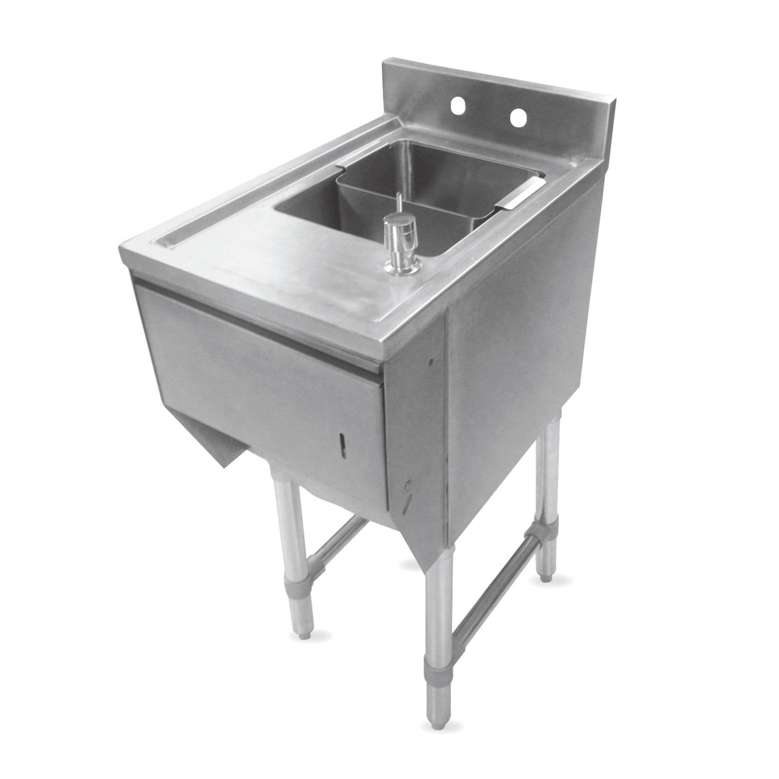 John Boos EUBDS-1518STD underbar sink units