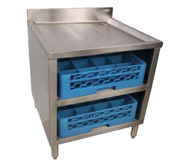 John Boos EUBGRS-24-2 underbar glass rack storage unit
