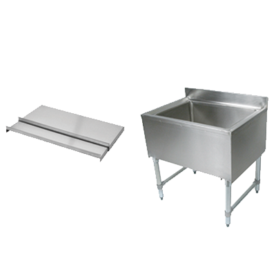John Boos EUBIB-12-3021 underbar ice bin/cocktail unit