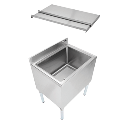 John Boos EUBIB-2418CP7 underbar ice bin/cocktail unit