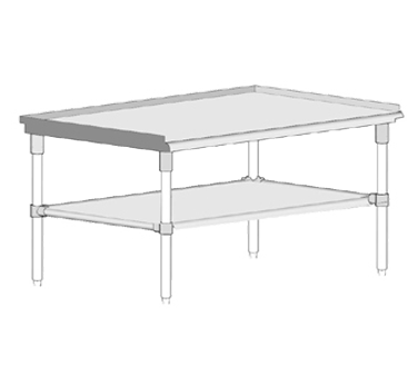 John Boos GS6-2436GSK equipment stand, for countertop cooking