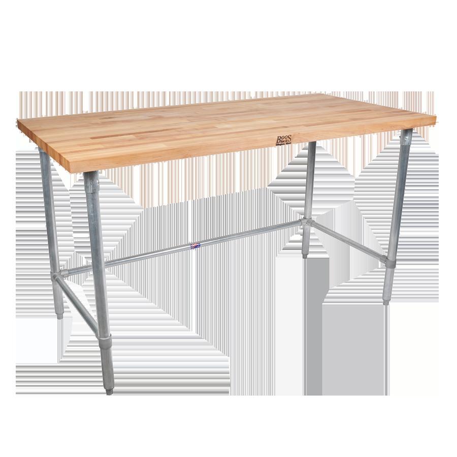 John Boos JNB10 work table, wood top
