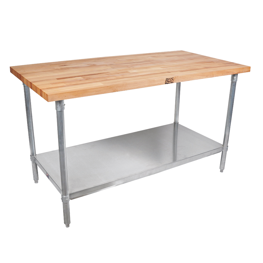 John Boos JNS21 work table, wood top
