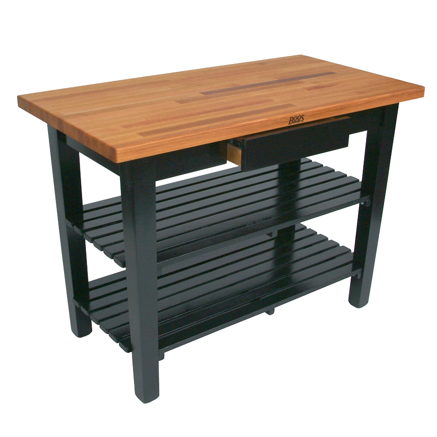 John Boos OC4825-2S work table, wood top