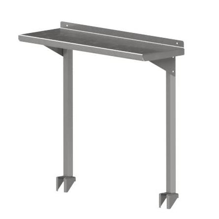 John Boos OSC16RK-1260 overshelf, table-mounted, cantilever type