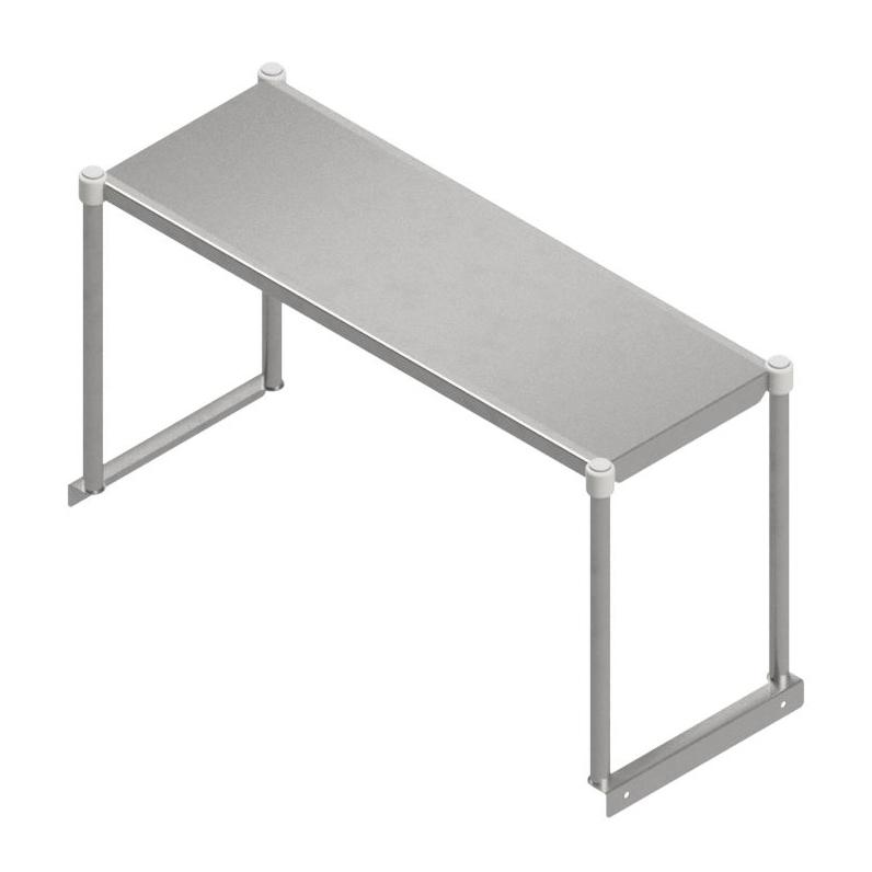 John Boos OSE16FK-1248 overshelf, table-mounted