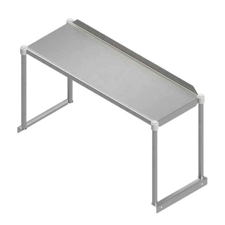 John Boos OSE16RK-1284 overshelf, table-mounted