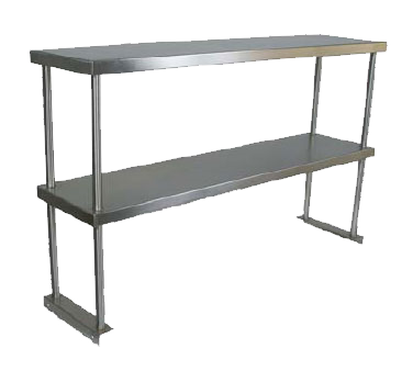 John Boos OS-ED-1260 overshelf, table-mounted