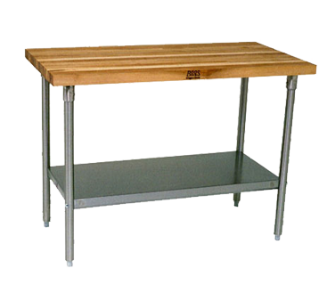 John Boos SNS05 work table, wood top