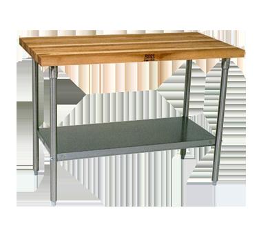 John Boos SNS12 work table, wood top