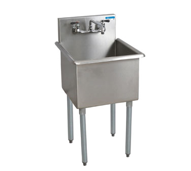 BK Resources BK8BS-1-24-14 sink, (1) one compartment