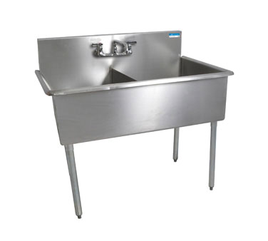 BK Resources BK8BS-2-24-12 sink, (2) two compartment