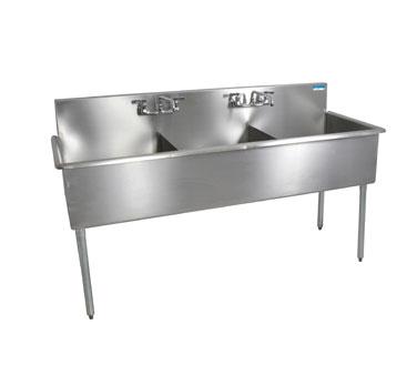 BK Resources BK8BS-3-24-12 sink, (3) three compartment