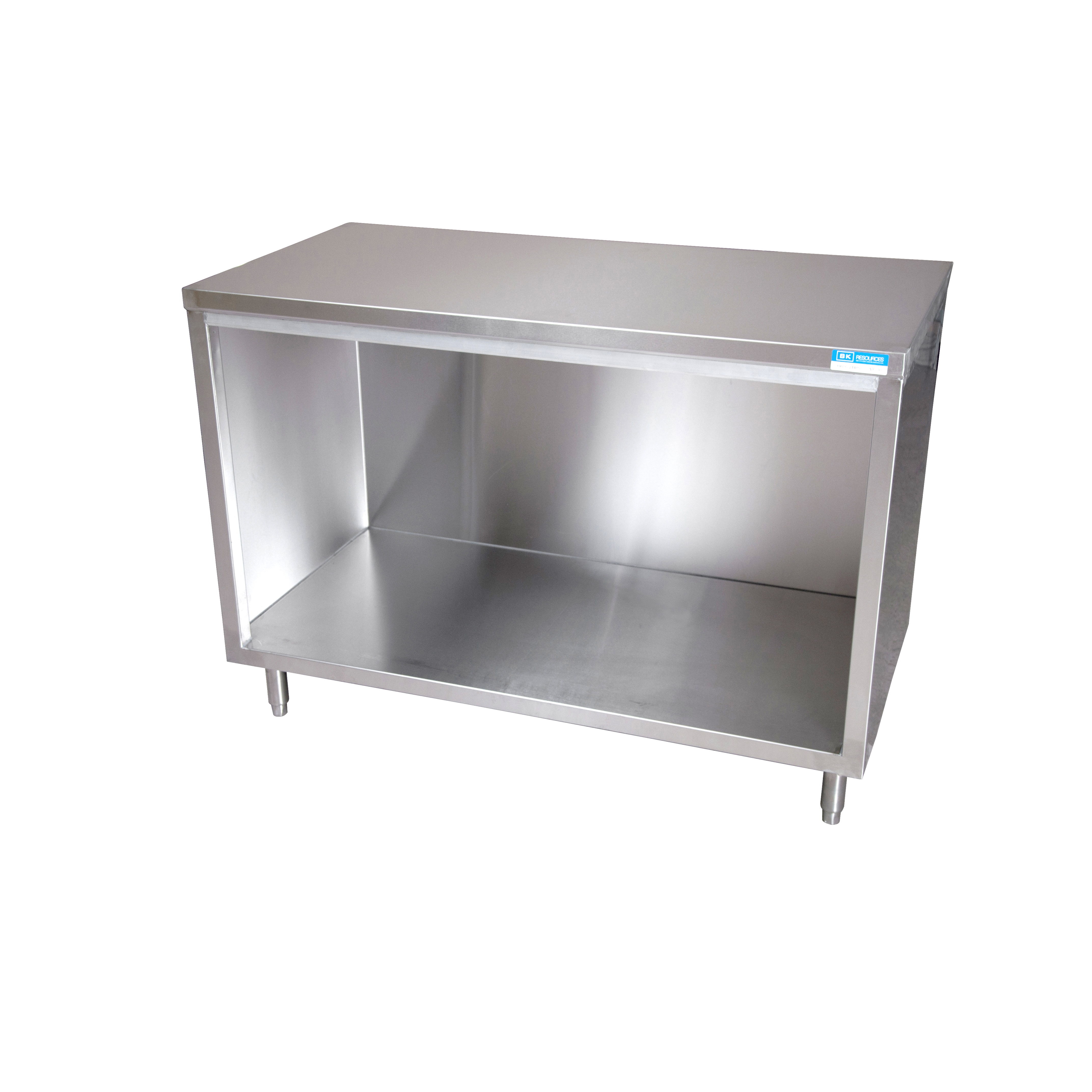 BK Resources BKDC-2460 work table, cabinet base open front