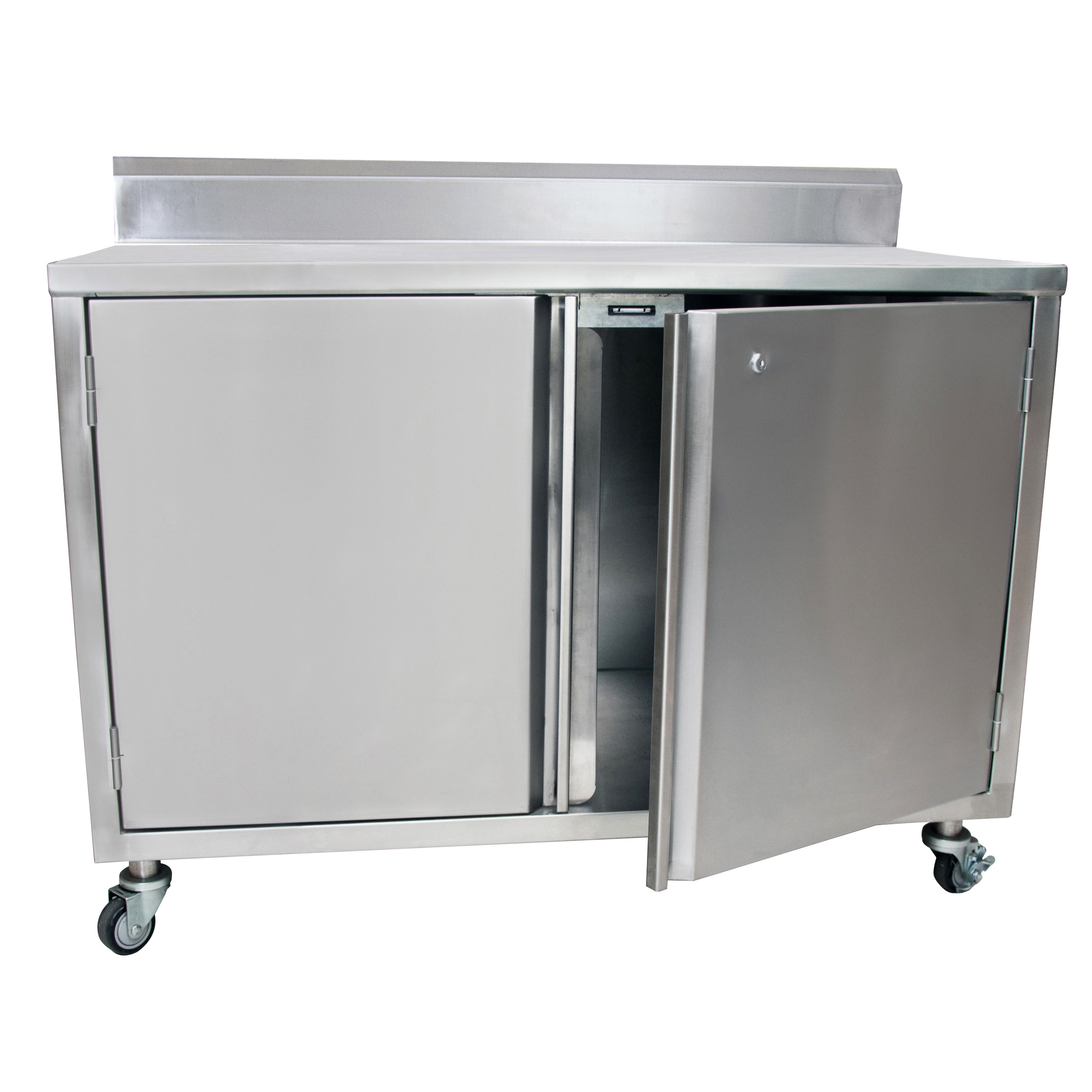 BK Resources BKDCR5-2460HL work table, cabinet base hinged doors