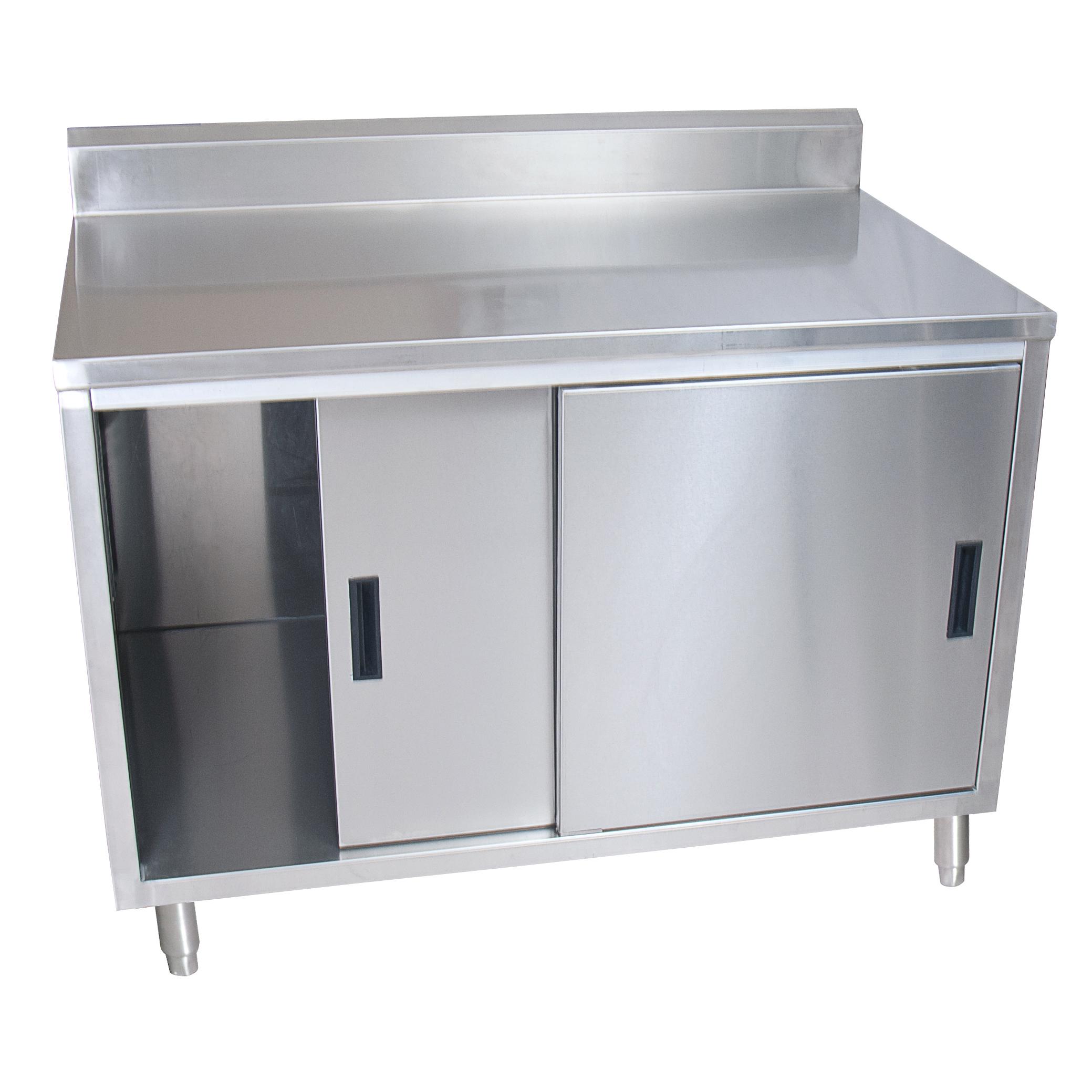 BK Resources BKDCR5-3648S work table, cabinet base sliding doors