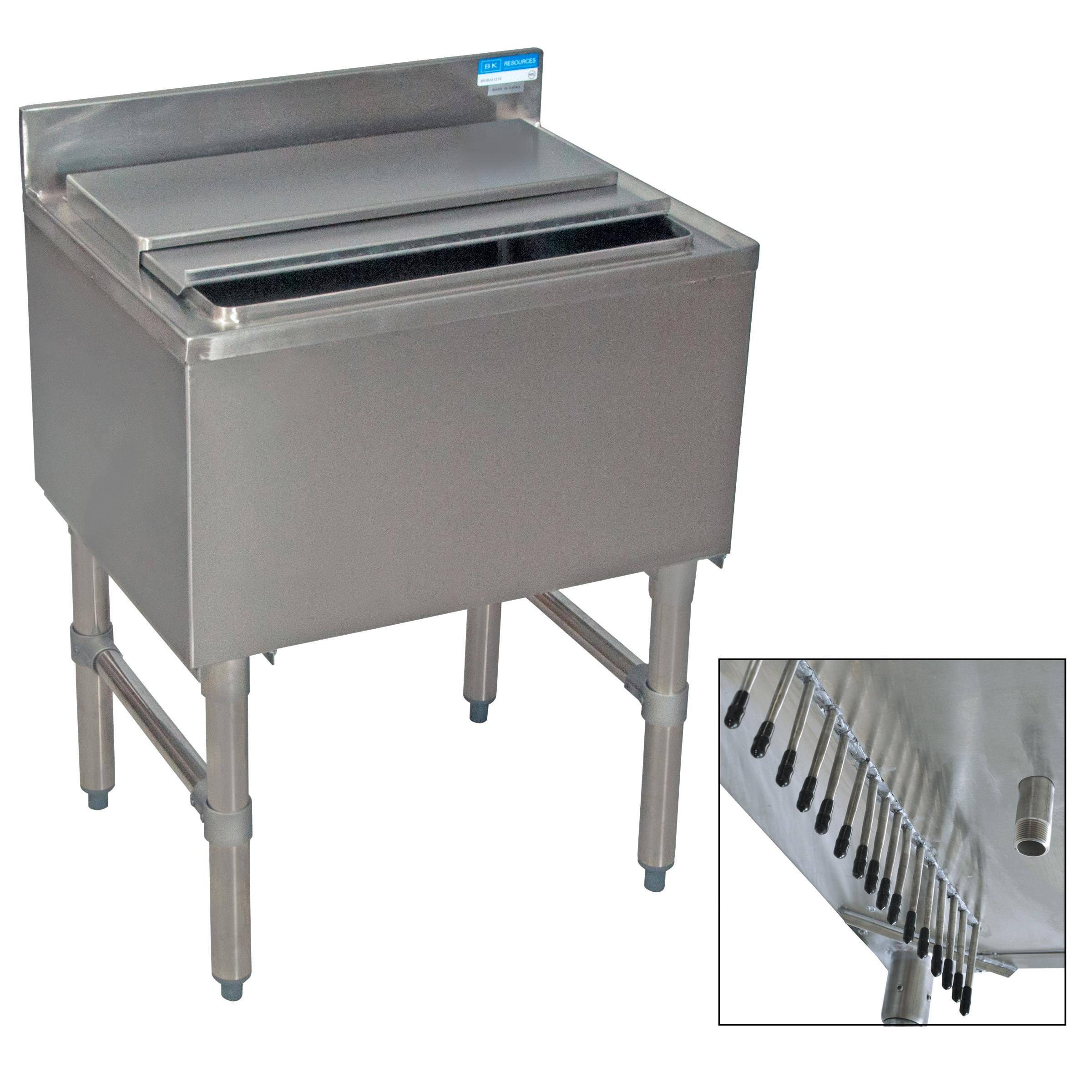 BK Resources BKIB-CP10-4812-18S underbar ice bin/cocktail unit