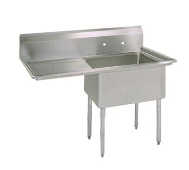 BK Resources BKS-1-18-12-18L sink, (1) one compartment
