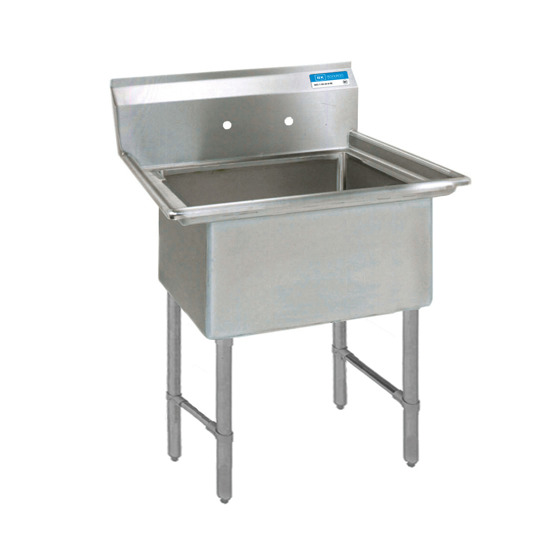 BK Resources BKS-1-1824-14S sink, (1) one compartment
