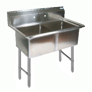 BK Resources BKS-2-1620-12S sink, (2) two compartment
