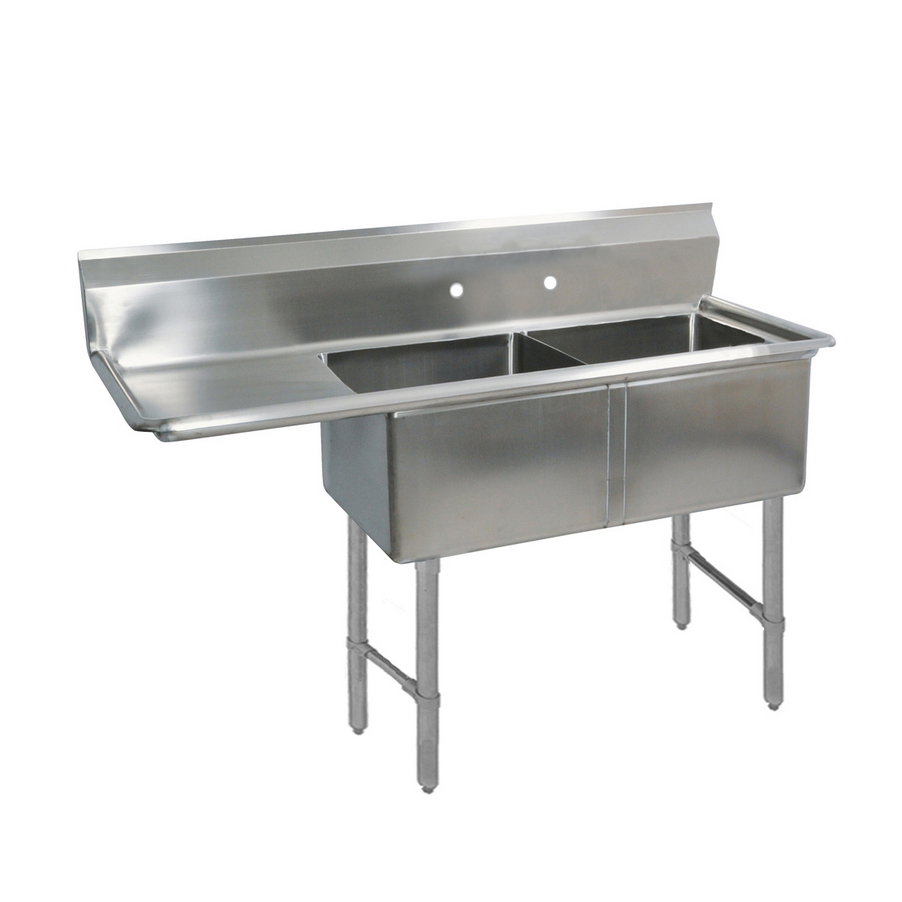 BK Resources BKS-2-24-14-24LS sink, (2) two compartment
