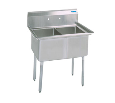 BK Resources BKS-2-24-14S sink, (2) two compartment