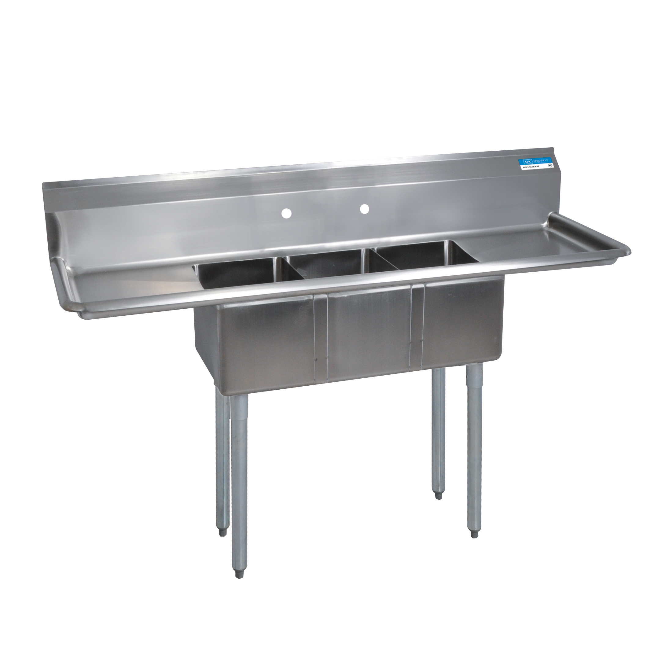 BK Resources BKS-3-1014-10-15TS sink, (3) three compartment