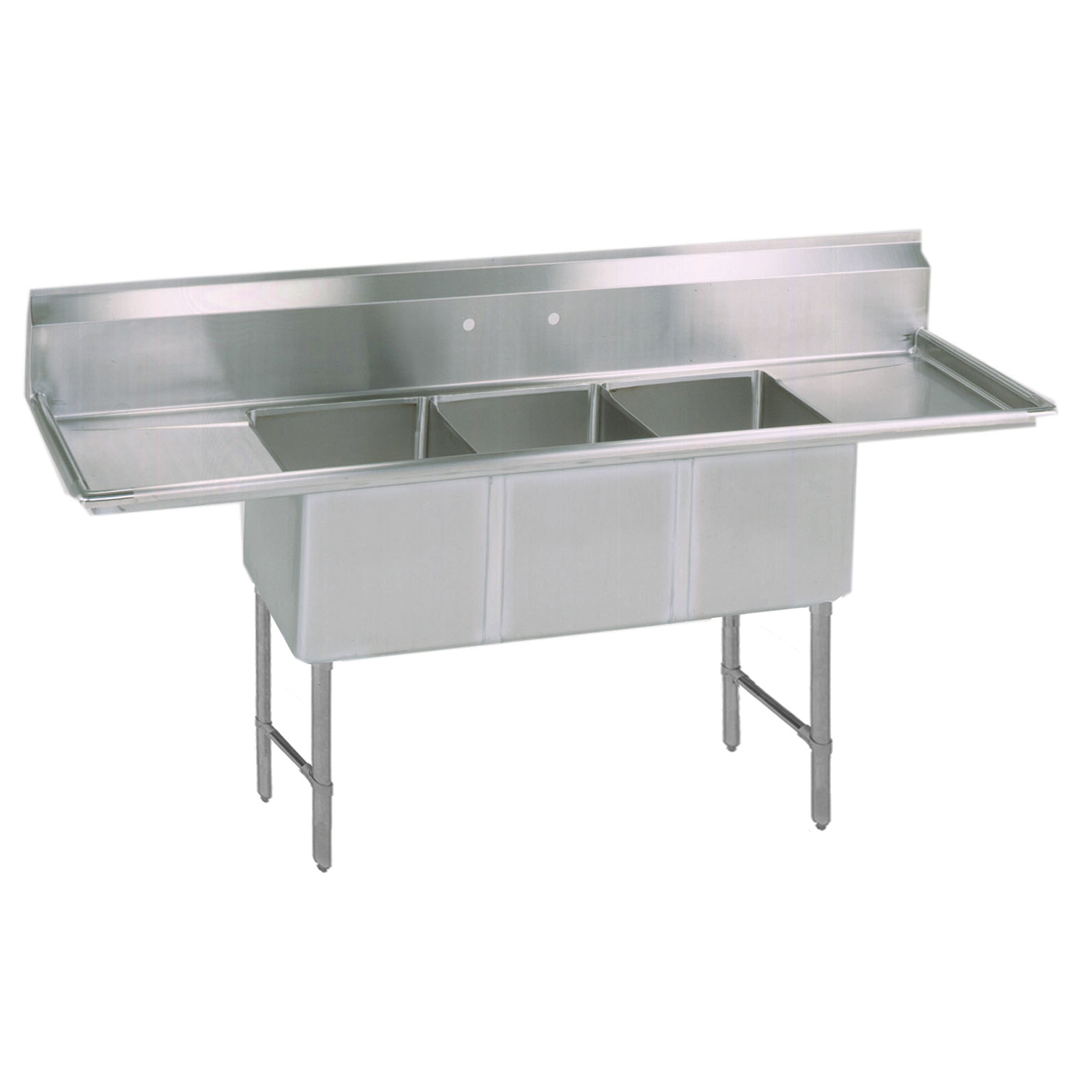 BK Resources BKS-3-1620-12-18TS sink, (3) three compartment