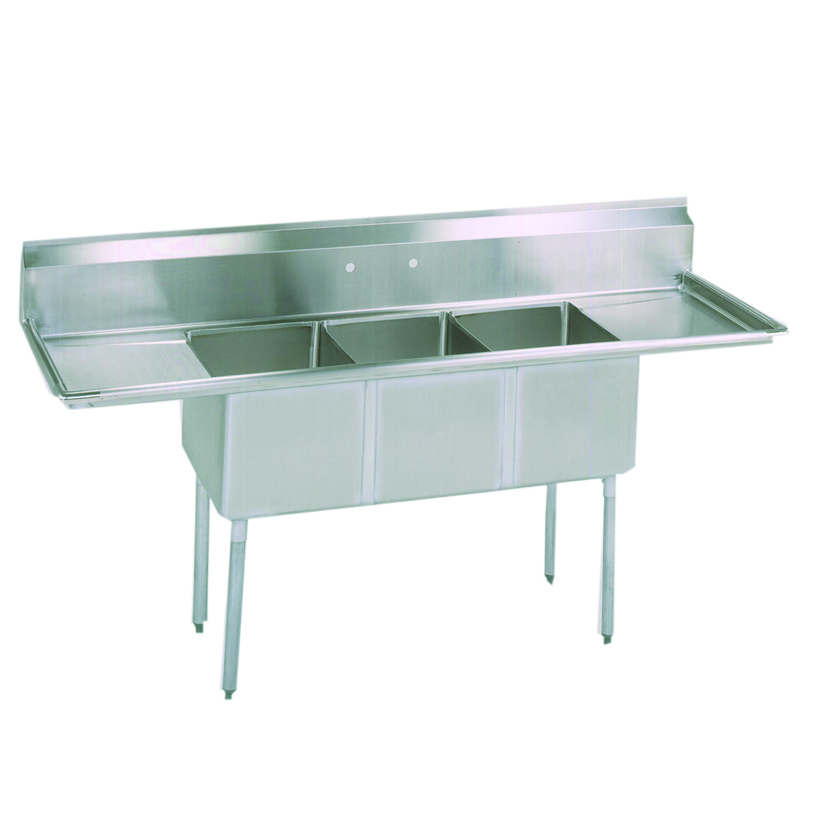 BK Resources BKS-3-18-12-24TS sink, (3) three compartment