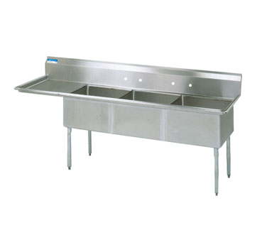 BK Resources BKS-3-24-14-24L sink, (3) three compartment