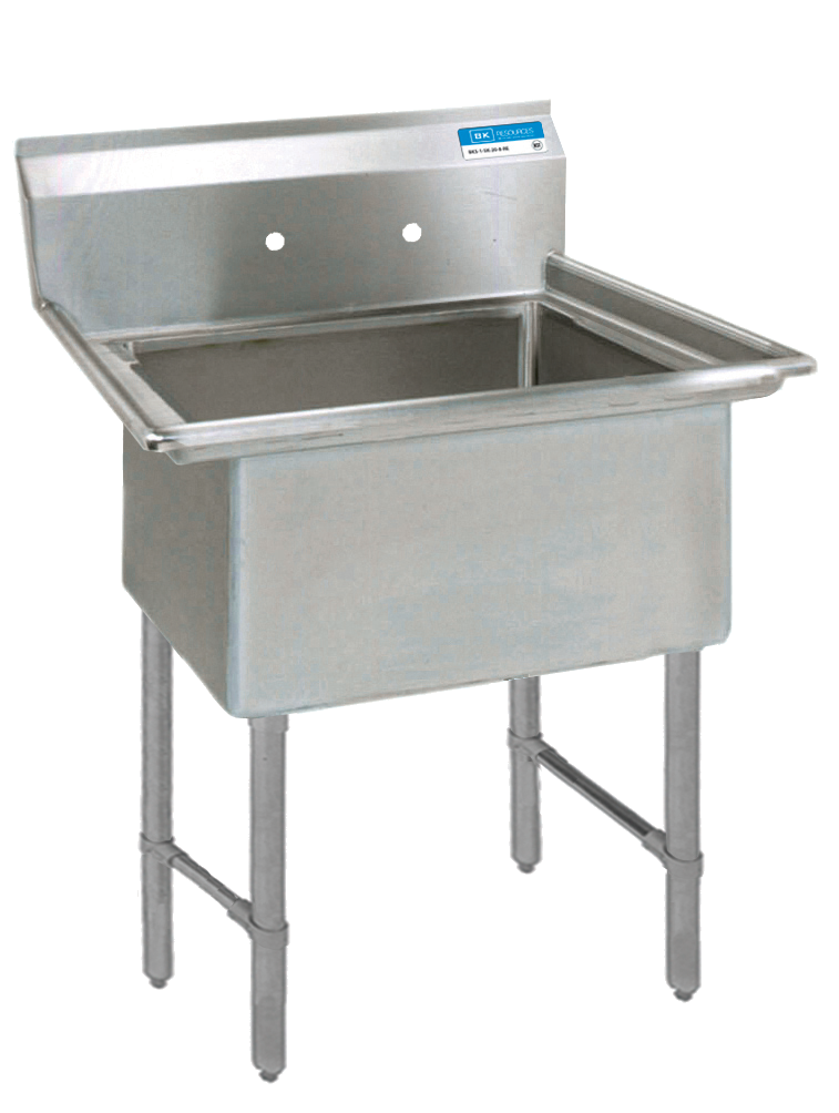 BK Resources BKS6-1-24-14S sink, (1) one compartment