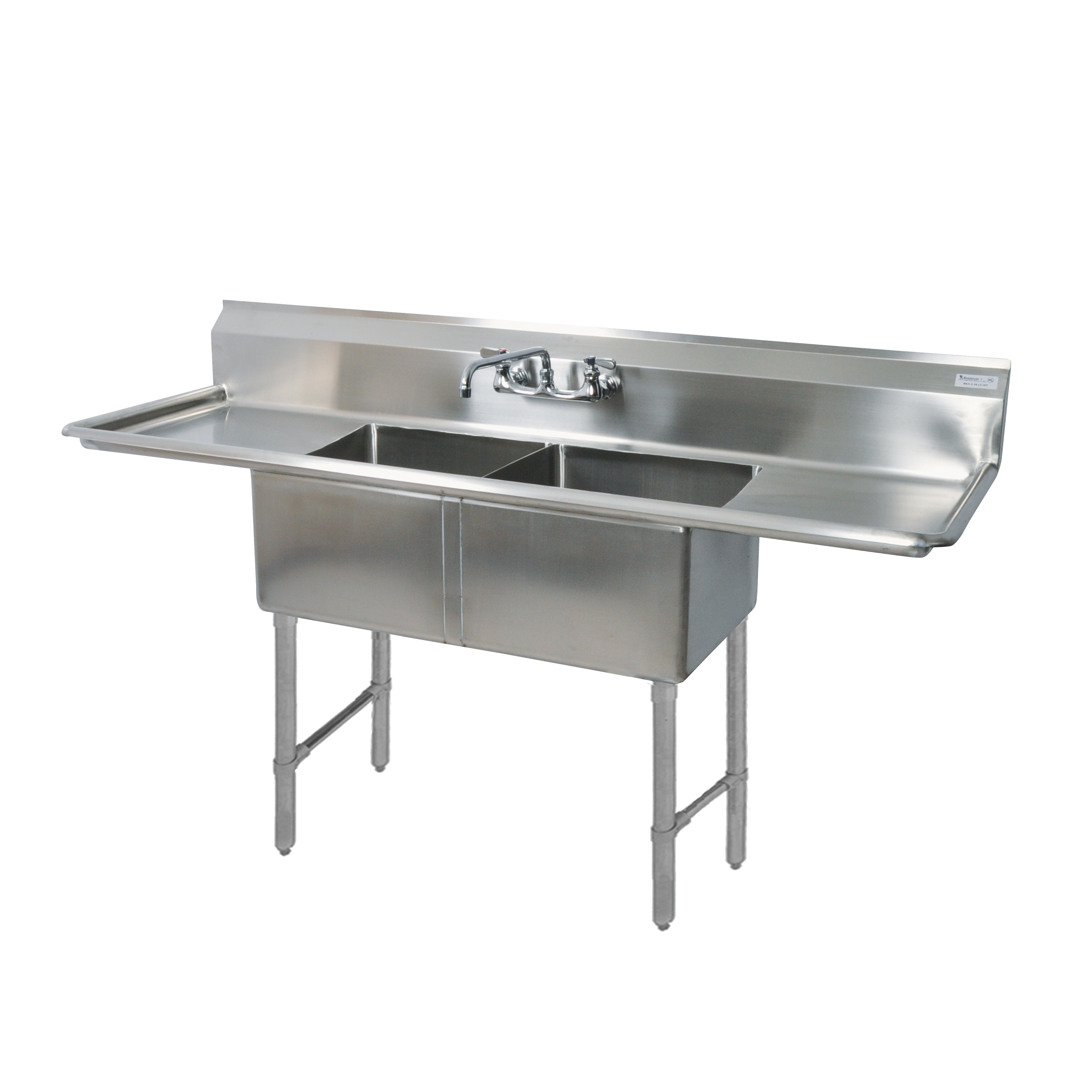 BK Resources BKS6-2-24-14-24TS sink, (2) two compartment